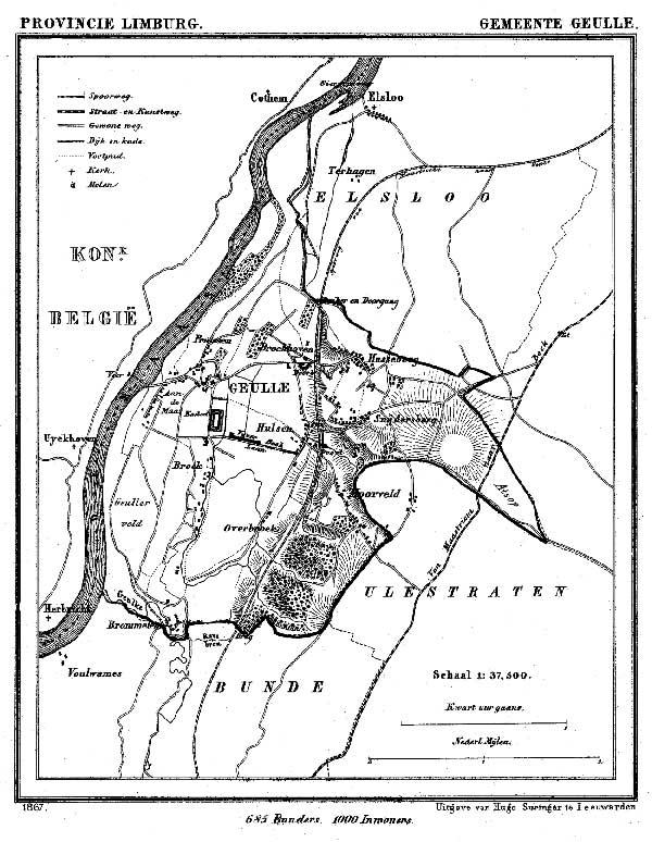 Groeten uit Geulle: Kuyper-kaart van Geulle.